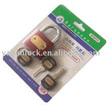 Plástico punho chave ferro cadeado