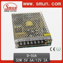 50W 5V 12V Dual Output Switching Power Supply