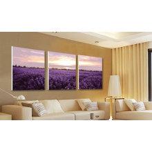 Púrpura Flor Mar Pintura Panel 3