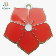 New Fashion Jewelry Custom Flower Metal Craft Pendants for Promotional Gift