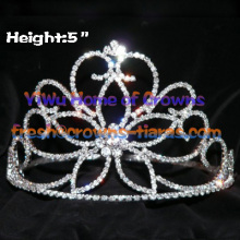 Big Flower Crystal Pageant Crowns