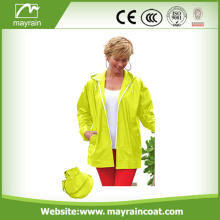 Ladies Waterproof Windproof Windbreaker PVC Jacket