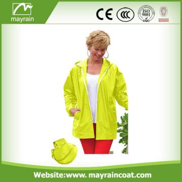 Ladies Waterproof Windproof Windbreaker PVC Jacket
