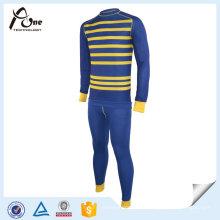 Conjunto de ropa interior de rayas térmicas de moda de alta calidad 2016