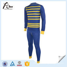 2016 High Quality Fashion Thermal Striped Underwear Set