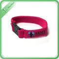 Bracelets tissés faits sur commande de carte d'identité d'adultes de vente chaude avec le plastique ou l'acier Bukle