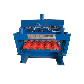 lapisan double Glazed Tiles Roll Forming Machine