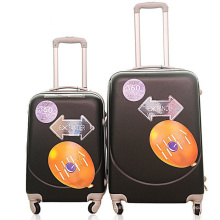 ABS-lächelnder Gesichts-leichter Koffer-Laufkatzen-Koffer