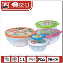 Plástico redondo Container(0.85L) de alimentos