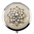 Lotus Compact Mirrors with Ivory Enamel