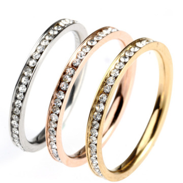 Fashion small diamond round ring Para