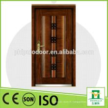 Porte blindée en bois de conception en acier de haute qualité pour le marché turc
