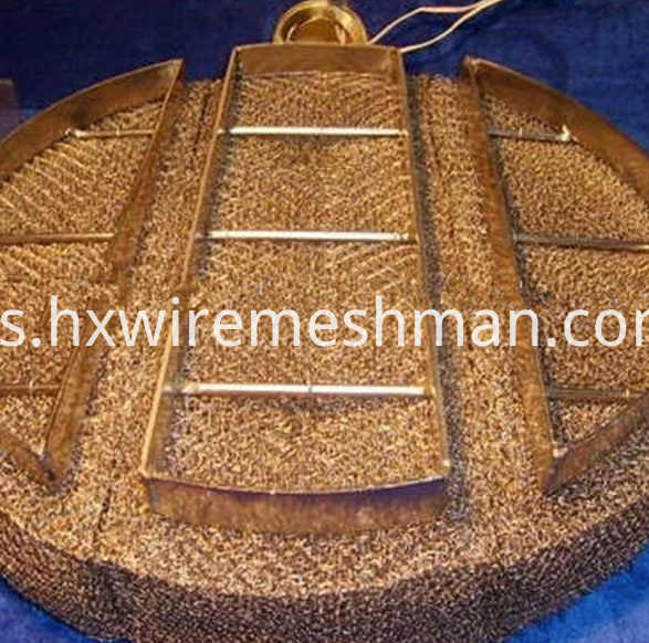 knitted mesh pad copper