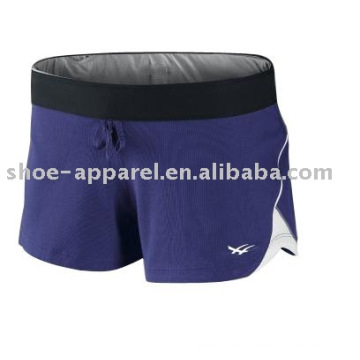 New design purple sports shorts for running oem service