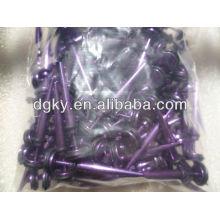 Фиолетовый позолоченный ювелирный ухо ювелирных изделий Носилки пирсинг
