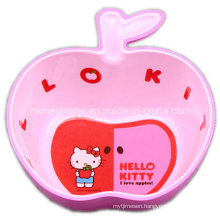 Melamine Apple Shaped Bowl with Logo (BW7029)