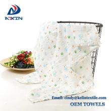 Bufanda de muselina de alta calidad Manta de bebé de algodón 100% orgánica Bufanda de muselina de alta calidad Manta de bebé de algodón orgánico 100%