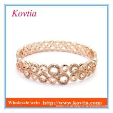 HEISSES VERKAUF Art und Weiseschmucksachen rosafarbenes Gold überzog indisches Kristallarmband