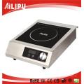 Cuisinière à induction commerciale (plaque de cristal, contrôle Touch & Knob, 15 réglages de puissance)