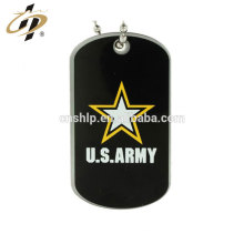 Wholesale custom USA army metal zinc alloy name tag