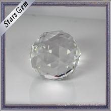Perles en cristal blanc clair grande taille Stock