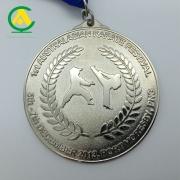 Zinc Alloy Custom Award Medal with Ribbon