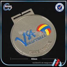 60mm Volleyball Staatsliga Silber Medaille der Ehre