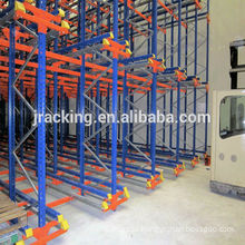 Tear drop pallet racks Jracking high density Metal Radio shuttle US standard pallet racks