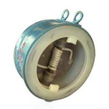 Válvula de retención oscilante de disco doble con revestimiento de plástico Wafer Flouorine (GAH76F)