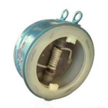 Válvula de retenção de disco duplo revestido de plástico Flutuante Wafer (GAH76F)