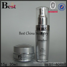 empty gray color double wall high-end acrylic lotion bottle