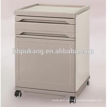 ABS y armario médico de cabecera de acero