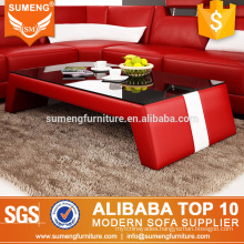 SUMENG china antique red color glass coffee table CT29