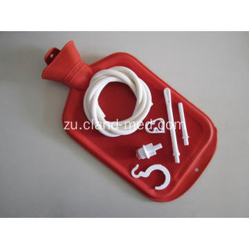 I-Rubber Reusable Douche Bag Heat Isikhwama samanzi we-Rubber Enema Bag