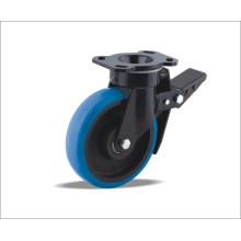 Rueda giratoria con rueda de poliuretano con centro de hierro