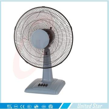 Ventilateur de bureau gris bleu avec 3 vitesses (USDF-656)