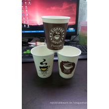 Kaffee / Tee Pappbecher & SIP Deckel-Einweg