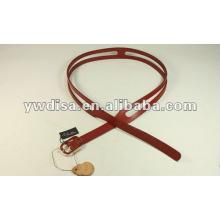 Cinturón de cuero simple Cinturón de cuero estrecho para Dressy