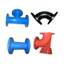 Ductile Iron Flanged Pipe Fittings, Available in Various Packaging Ways, Coating and Standards