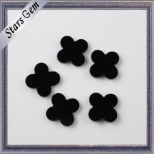 Belle forme de fleur Agate naturelle noire et onyx