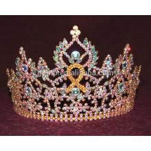 Corona de la tiara del rhinestone de la cinta