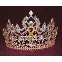 ribbon rhinestone tiara crown