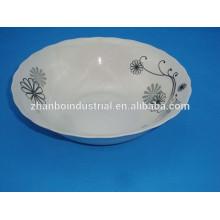 China caliente Venta al por mayor abastecido ronda porcelana cuencos de cerámica