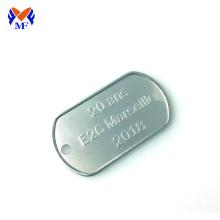 Custom logo dog tag steel for pendant