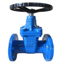 flange end resilient sealed stem gate valve