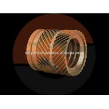 insertos de latón para el moldeado de plástico, inserto de latón roscado macho para accesorios de tubería ppr
