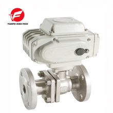 electric actuator ball valve DN65 DN80 DN100 220v flange type stainless steel