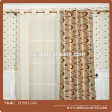 Tela de cortina del apagón negro del telar jacquar de lujo del 100% para el cortina de la cortina de Canadá