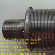 Buse d'écran de fil de filtre de tube de filtre