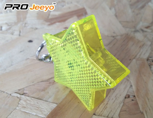 2 LED Light Reflective Star Hanger Key chain for Children Bag RB-503D 2
